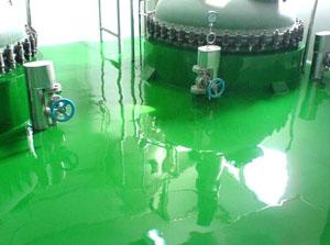 大东电子环氧自流平地坪施工工程