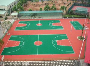 富士康篮球场运动地坪施工方案